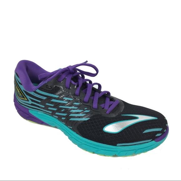6d77c03c9f4 Brooks PureCadence 5 Black Purple Running Shoes